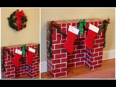 DIY Christmas Fireplace for the Holidays - YouTube