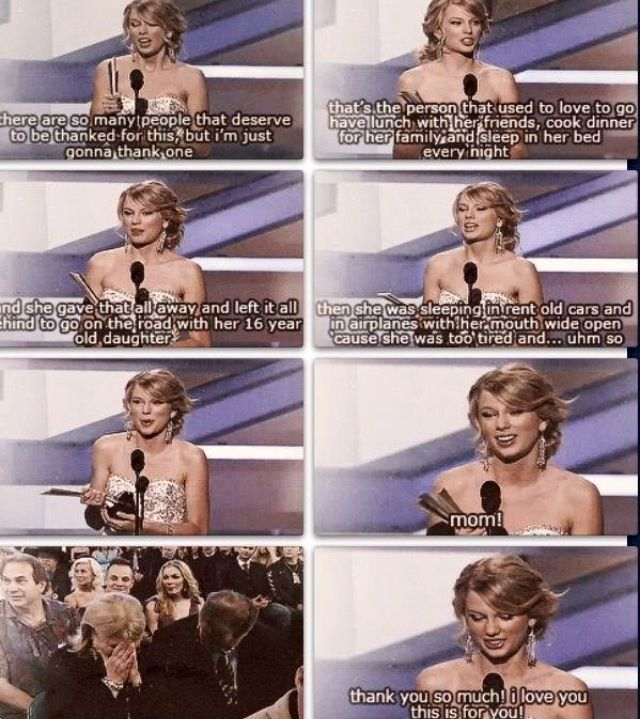 I love Taylor Swift and her mom :)