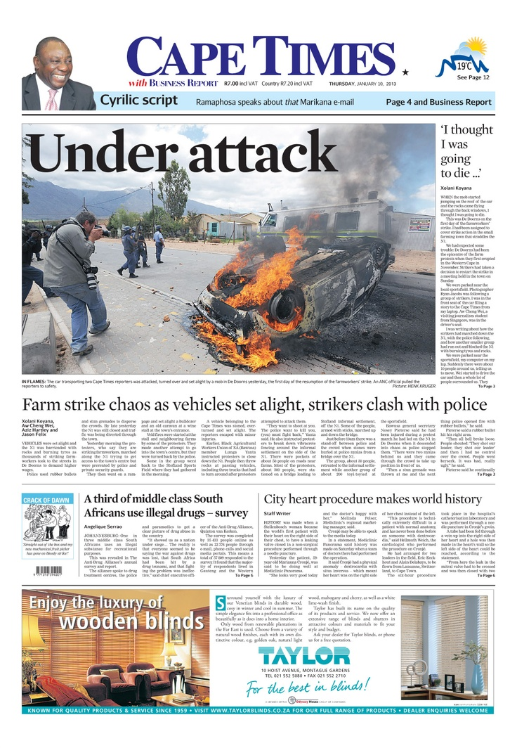 Under attack: Cape Times reporter Xolani Koyana tells his story