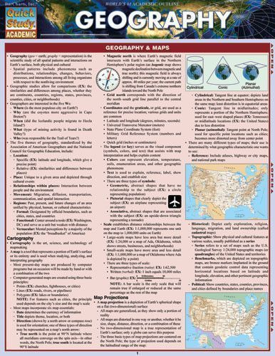 Geography Laminated Reference Guide #scholarships