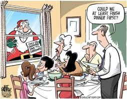 The Real Story: The Santa and Turkey Cartoon