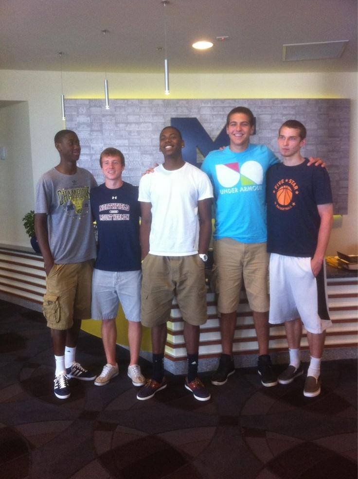 meet the freshman basketball class l to r caris levert