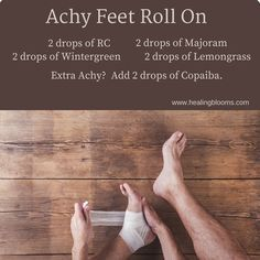OMG - This recipe using essential oils has helped my husband's achy feet so much! It has been a life saver for our family.