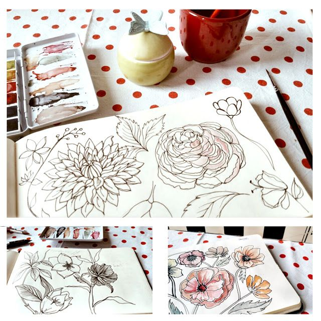 Barbie McGuire Shares her Sketchbooks for Sketchbook Conversations on the My Giant Strawberry Blog