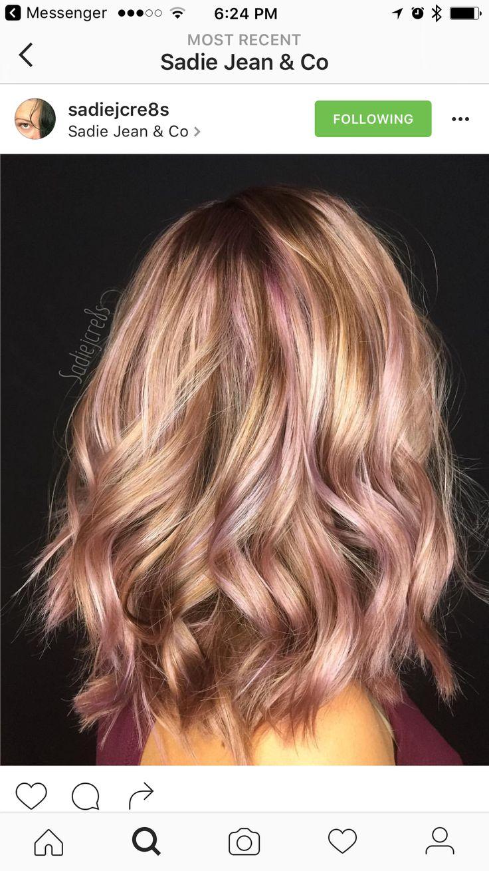 Rose gold highlights | Gray hair ideas in 2019 | Hair ...