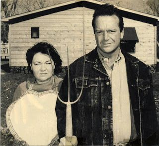 American Gothic:  Roseanne Barr and Tom Arnold opened a diner in 1993 in Eldon, Iowa , the town where the original American Gothic home stands.