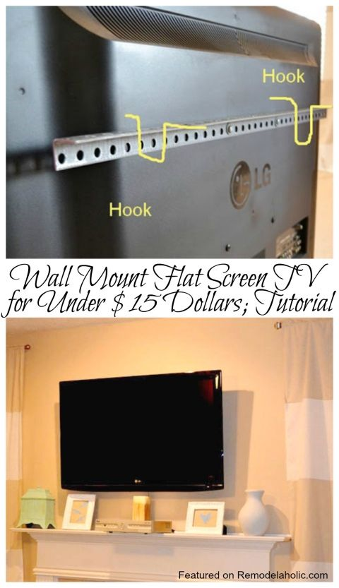 25 best ideas about flat screen tv mounts on pinterest for Small wall mounted tv for kitchen
