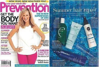 Prevention Magazine February featuring RPR De-chlorinate My Hair - News - RPR Hair Care Pty. Ltd.