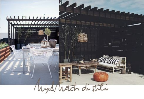Mix&Match di stili per un patio etnico e chic