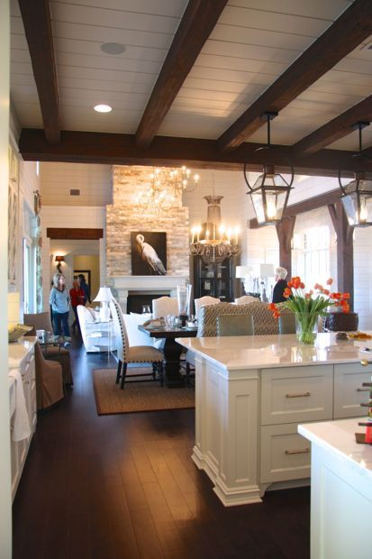 Austin Area Southern Living Showcase Home Kitchen Ceilingsexposed Beamsceiling Designkitchen