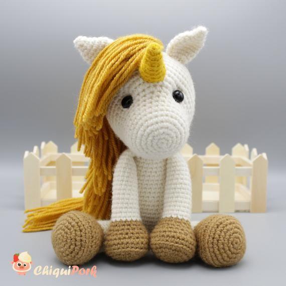 unicorn crochet pattern, unicorn pattern, crochet pattern von ... | 570x570