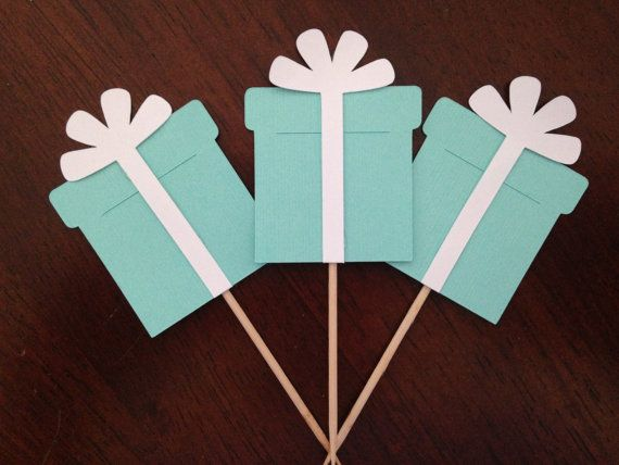 Breakfast at Tiffany's Cupcake Toppers by HillmanHandmade on Etsy