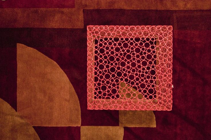 color carpet geometric -  orange cube table