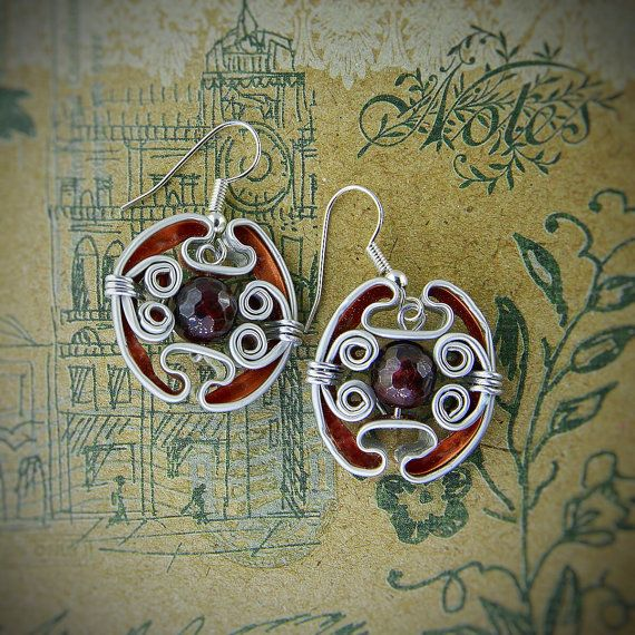 Earrings, hand made, nespresso