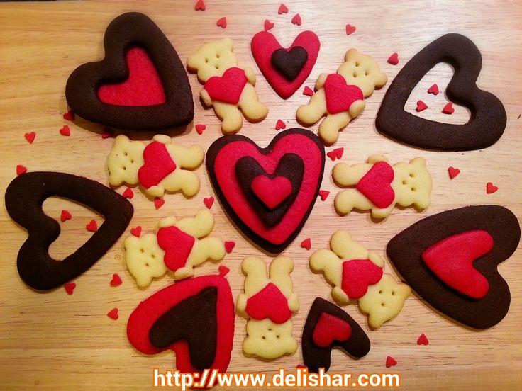 DELISHAR: Bear Hug Heart Sugar Cookies | Delishar Food | Pinterest