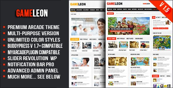 Gameleon - WordPress Arcade Theme (Entertainment)