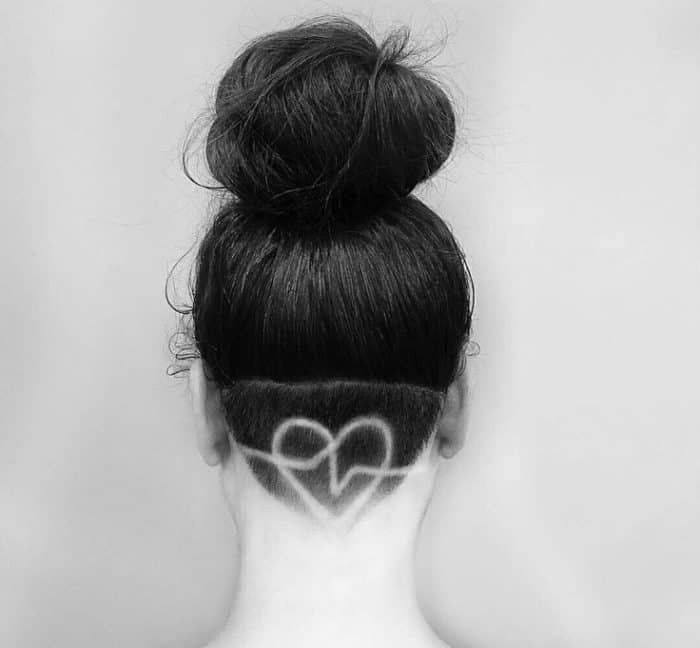 25 Cool Hair Tattoo Designs for Ladies – SheIdeas   – Shorthaircut creative