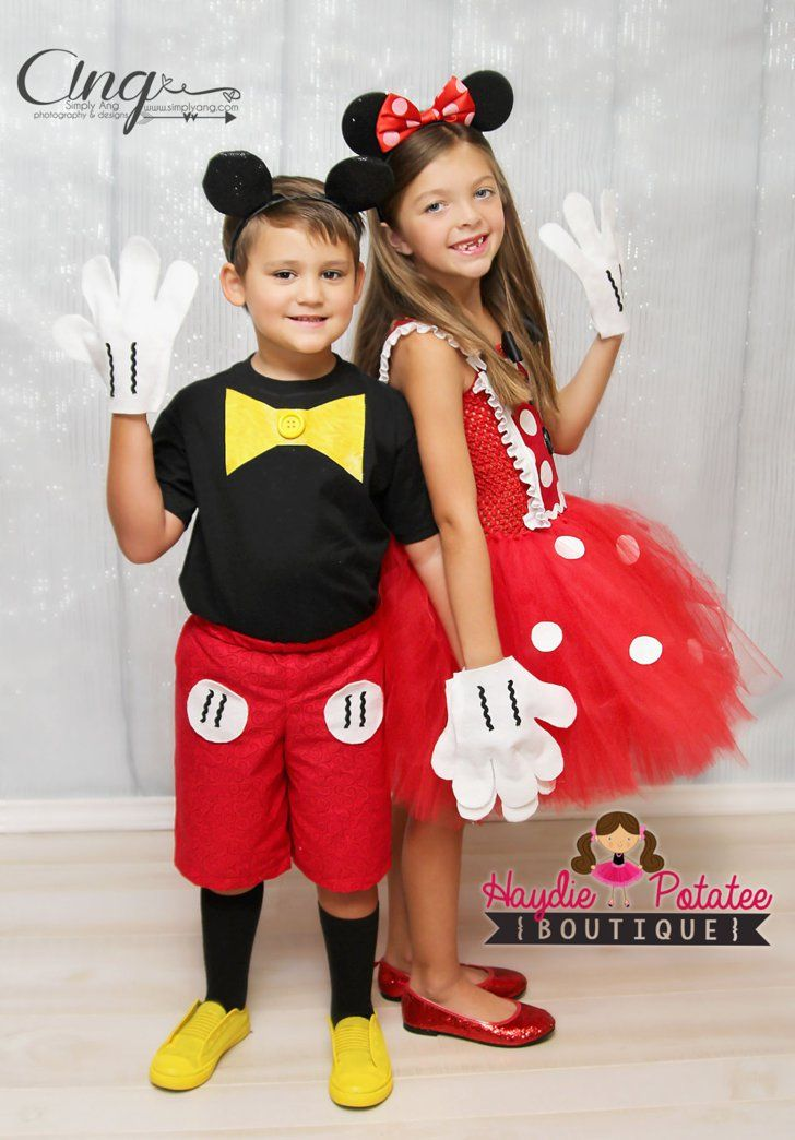 57 Perfect Kids' Halloween Costume Ideas For BFFs Mickey and Minnie Mickey and Minnie Costumes ($83)
