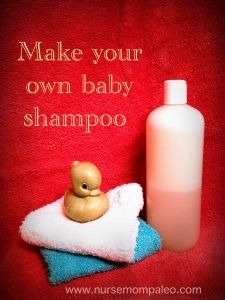 Make your own baby shampoo! Dr Bronners soap, coconut oil, lavender oil.