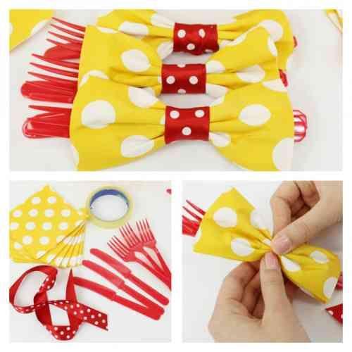 pliage de serviette en papier et idée sympa en forme de papillon                                                                                                                                                                                 Plus