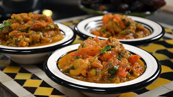 Za'alouk (gepofte aubergine) - recept | 24Kitchen