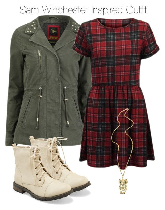 """""""Supernatural - Sam Winchester Inspired Outfit"""" by staystronng ❤ liked on Polyvore featuring le breve, CO, Aéropostale, Boots, dress, samwinchester and spn"""