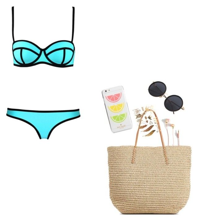 """Pool look"" by yasmin-bach-rasmussen on Polyvore featuring Target and Kate Spade"