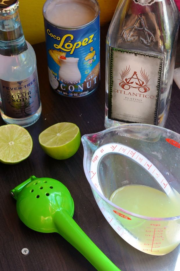 Boat Drink (Fizzy Lime Coladas)
