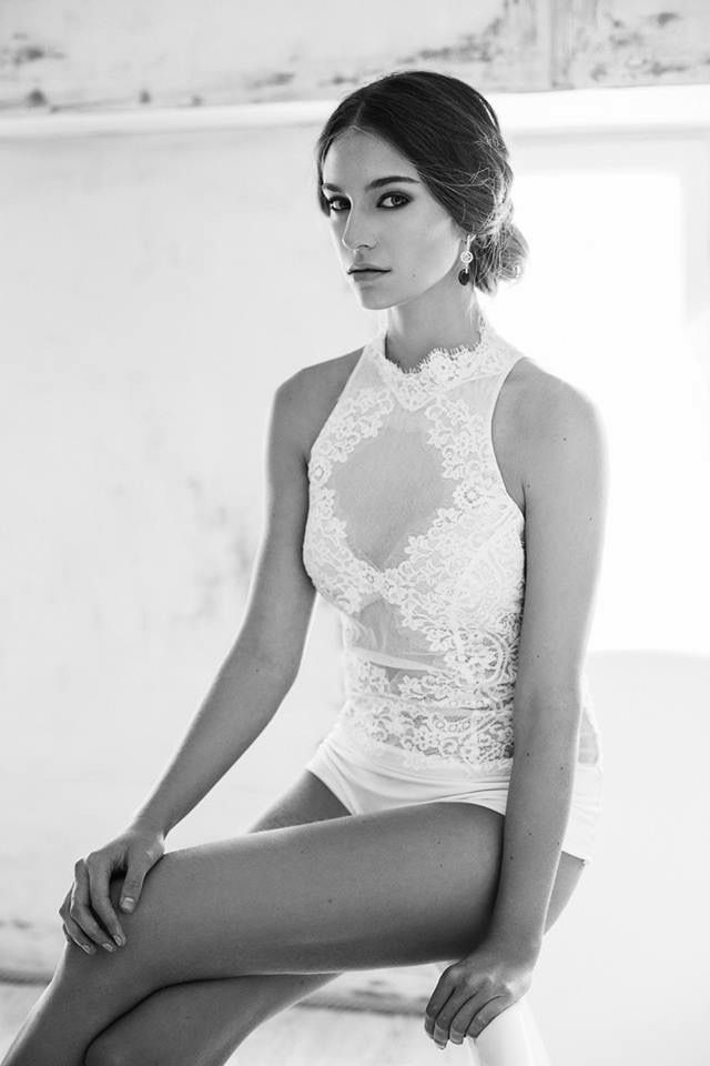 Nora Sarman / Adele Bodysuit with French Lace
