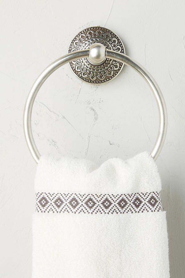 Brass Medallion Towel Ring