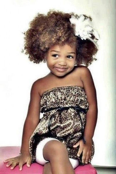 Cute afro hairstyle for kids...for you @Lisa Rader, maybe this will help :)
