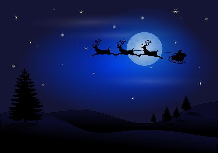Santa, Claus, Boże Narodzenie, Renifer, Sledge