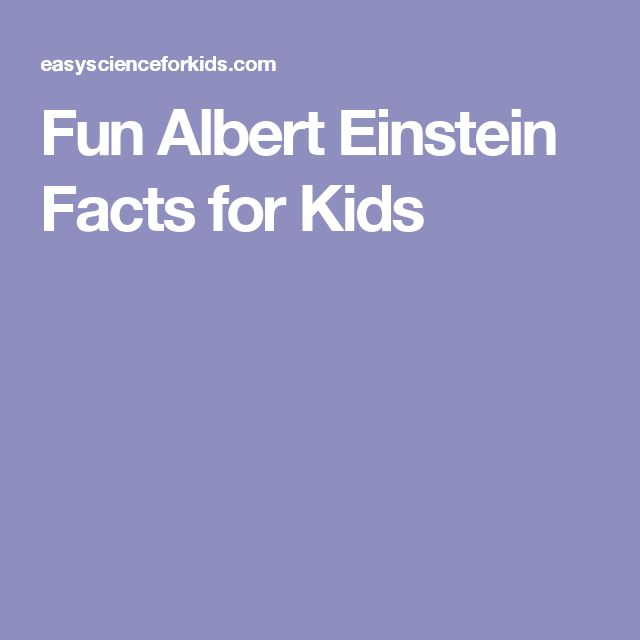 Fun Albert Einstein Facts for Kids