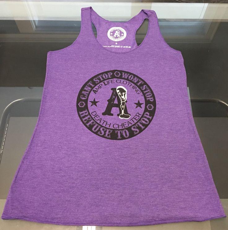 AMPUTEE LIFE® DEATH CHEATER LADIES TANK- Purple