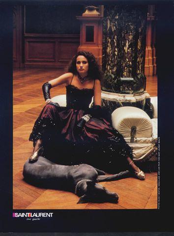 Yves Saint-Laurent (Couture) 1982 Helmut Newton, Evening Gown