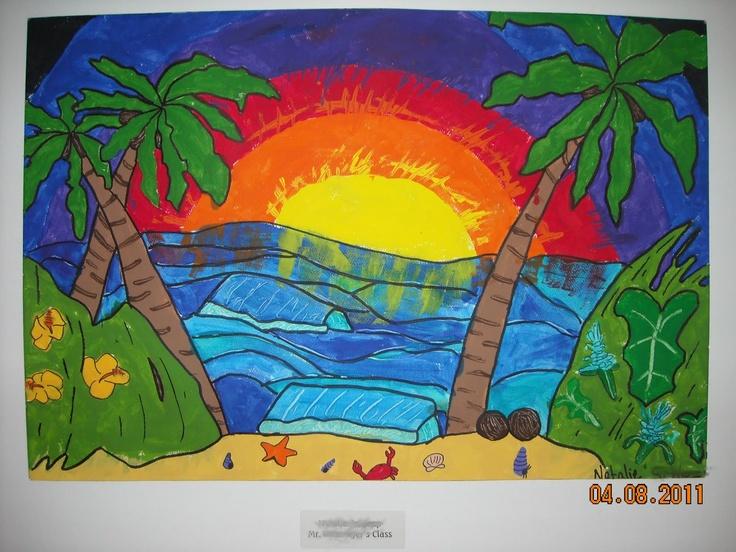 I LOVE Heather Brown - good lesson using her art.  One Crayola Short: Artist: Heather Brown