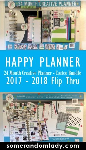 Happy Planner Flip Thru, Costco bundle, The Happy Planner, 2017 - 2018, 24 month