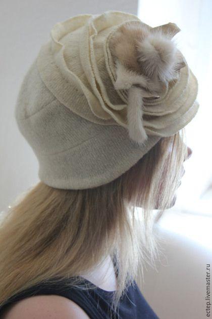 """Шапки ручной работы. Шапочка"""" Архидея"""". Тамара Козуб (Эстер). Ярмарка Мастеров. Вязанная шапка, меховая шапка, шапка с норкой"""