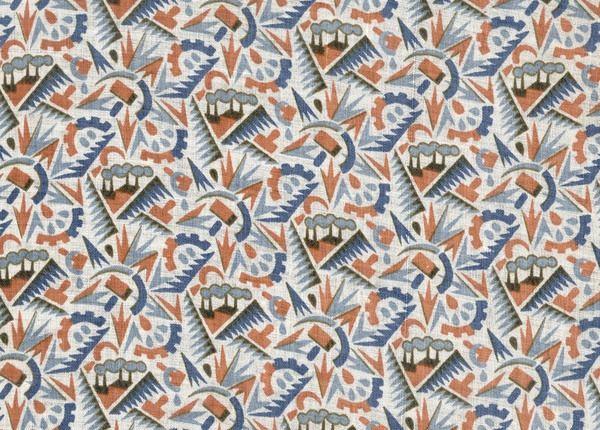 Communist Soviet Fabric Pattern