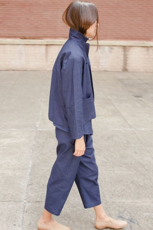 Bernay Jacket and Wharf Trousers in Indigo Canvas