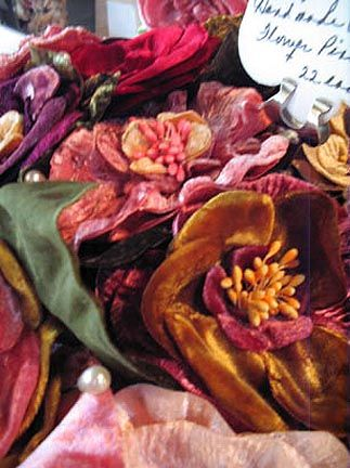 Jewel tone velvet flowers