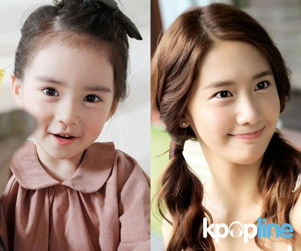 Jeong Won Hee Was Born In 2007 And Is Very Lucky To Get Netizens Special Attention Because Her Beautiful Looks Is The Same Yoona Snsd Http Idol Twins Kids