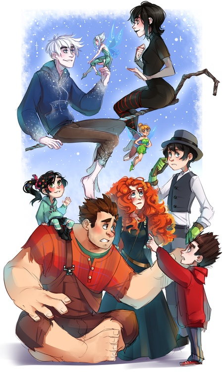 2012 animations!  Hehehe Onceler and Wreck It Ralph / Vanellope. Not all disney...