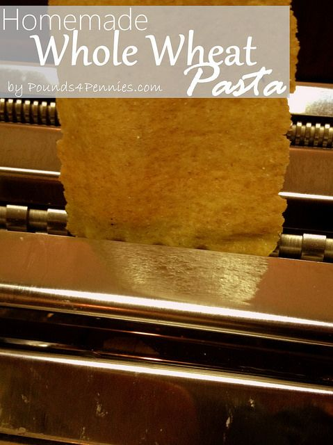 The Best Homemade Whole Wheat Pasta Recipe Ever. I have tried a few and this is the best by far. Pin this to make this Homemade Pasta recipe.