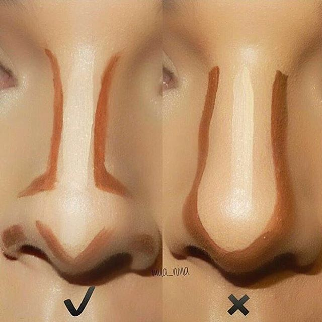 We love this tip showing us the right way to contour this type of nose! ✨ VINTAGE P...