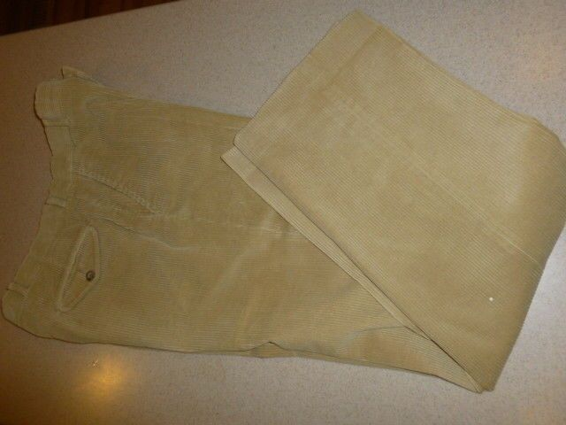 Vintage L.L. Bean Mens Corduroy Pants Cotton Beige Trousers sz 31x33 #LLBean #Corduroys