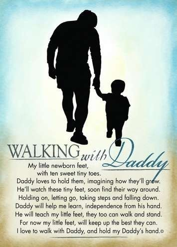 Walking with Daddy- love it!