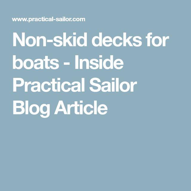 Non-skid decks for boats - Inside Practical Sailor Blog Article