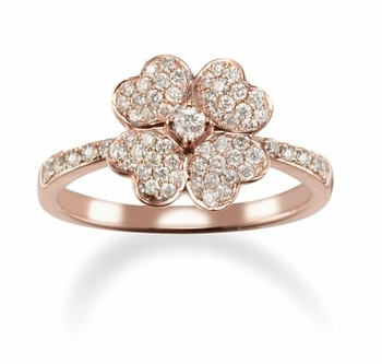 15 best Four Leaf Clover Rings images on Pinterest Clover ring