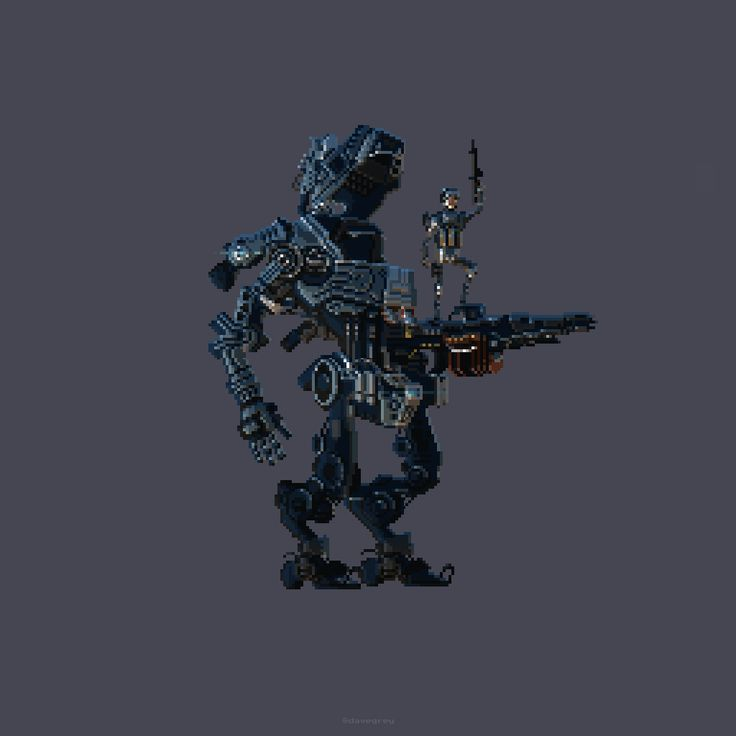 24 Best Pixel Art Mech Images On Pinterest